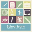 School icons  — Vettoriali Stock