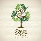 спасти планету — Cтоковый вектор