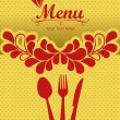 Menu retro - Stock Vector