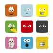 Expressions icons - Stock Vector