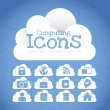 Cloud Icons — Stock vektor
