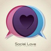 Social love — Stock Vector