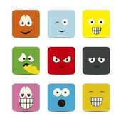 Expressions icons — Stock Vector