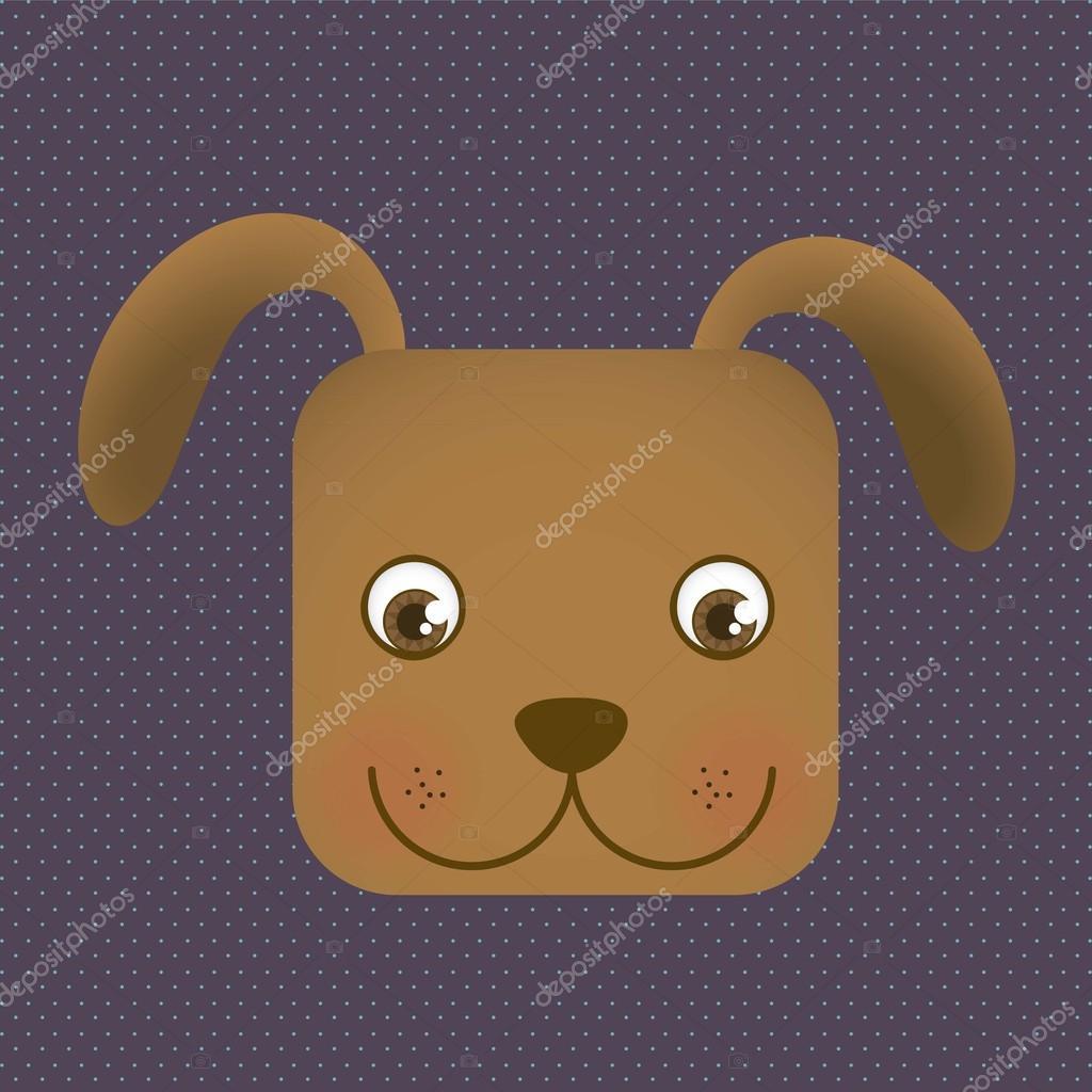 动物图标,带点背景,矢量插画的方头狗 — 矢量图片作者 grgroupstock