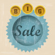 Retro sale label - Stock Vector