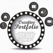 Creative portfolio — Stock Vector #14839283