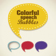Retro speech bubbles — Stock Vector