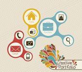 Creative portfolio — Stock Vector