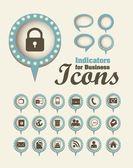 Retro icons — Stock Vector
