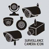 Säkerhet kameran — Stockvektor