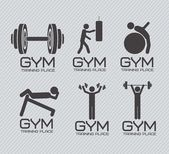 Gym Icons — Vector de stock