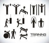 Gym ikoner — Stockvektor