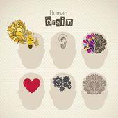 Brain icons — Stock Vector