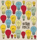 Idea icons — Stock Vector