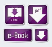 Descargar ebook — Vector de stock