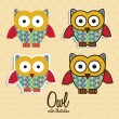 Colorful owls — Stock Vector #17123769