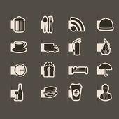 Hotel icons — Cтоковый вектор