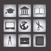 Ícones de Universidade — Vetor de Stock
