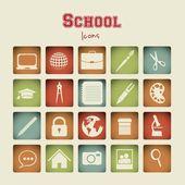 Szkoła ikon — Wektor stockowy