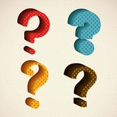 Question Icons — Stock Vector