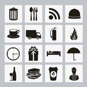 Iconos de hotel — Vector de stock