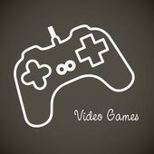 Videogames icons — Stock Vector