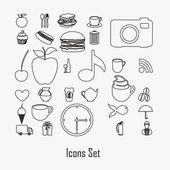 Icon silhouettes — Stock Vector