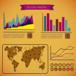 Social Media Infographic — Stock Vector #19039243