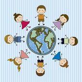 Kids Team — Stock Vector