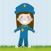 Police woman — Stock Vector