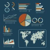 Social Media Infographic — Stock Vector