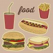 Fast food icons — Stock Vector #19380131