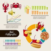 Food infographics — Stock Vector