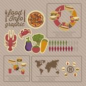 Food infographics — Stock Vector