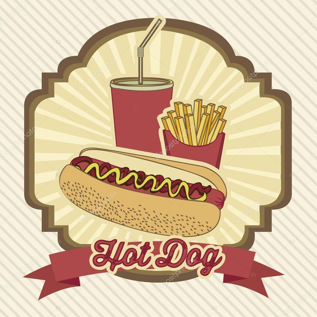 Vintage hot dog stock vector 169 grgroupstock 19432389