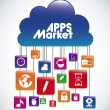 Apps Market — Stock Vector