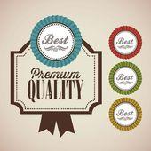 Premium Labels — Stock Vector