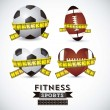 Fitness Icons - Stockvektor