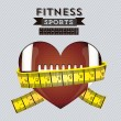 icone di fitness — Vettoriale Stock