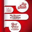 Big Sale Icons and Labels — Stock Vector