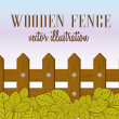 Stock Vector: Wooden fence