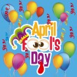 April Fool's Day - Stock Vector