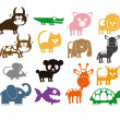 Cute Animals - Stock Vector