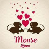 Mouse love — Stock Vector