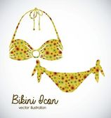 Bikini icon — Stock Vector