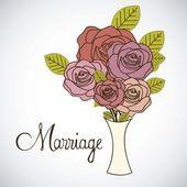 Wedding Icons — Stock Vector