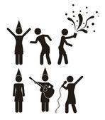 迪斯科和舞蹈图标 — 图库矢量图片