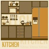 Kitchen — Vettoriale Stock