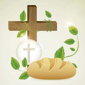 Eucharistic sacrament — Stock Vector