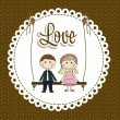 Stock Vector: Illustration of love